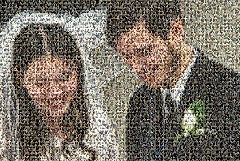 Wedding Photo Mosaic
